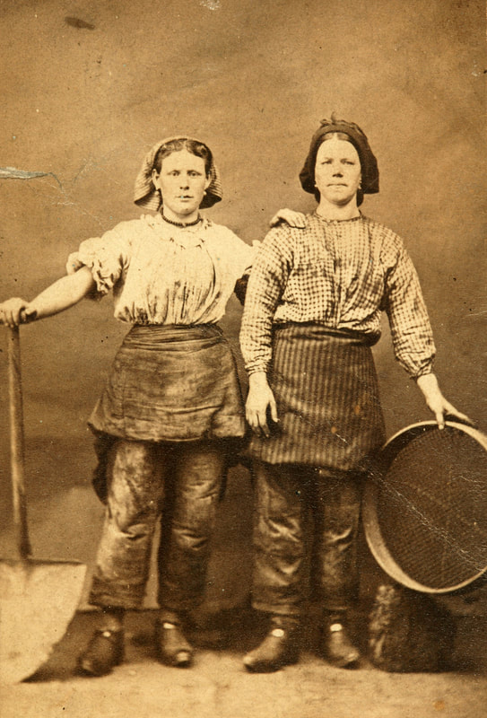 2008.40.9.1 Studio portrait of two workers from the Tredegar Ironworks in Wales, taken by William Clayton, 1865